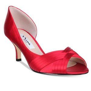 Red Satin Heel